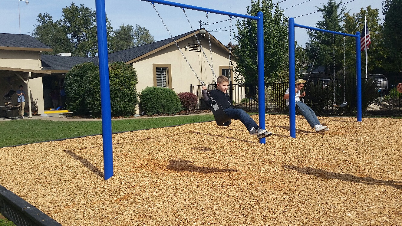 Our Playground Swings Are Installed!